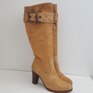 Coach Meadow leather knee high boots 9.5 B